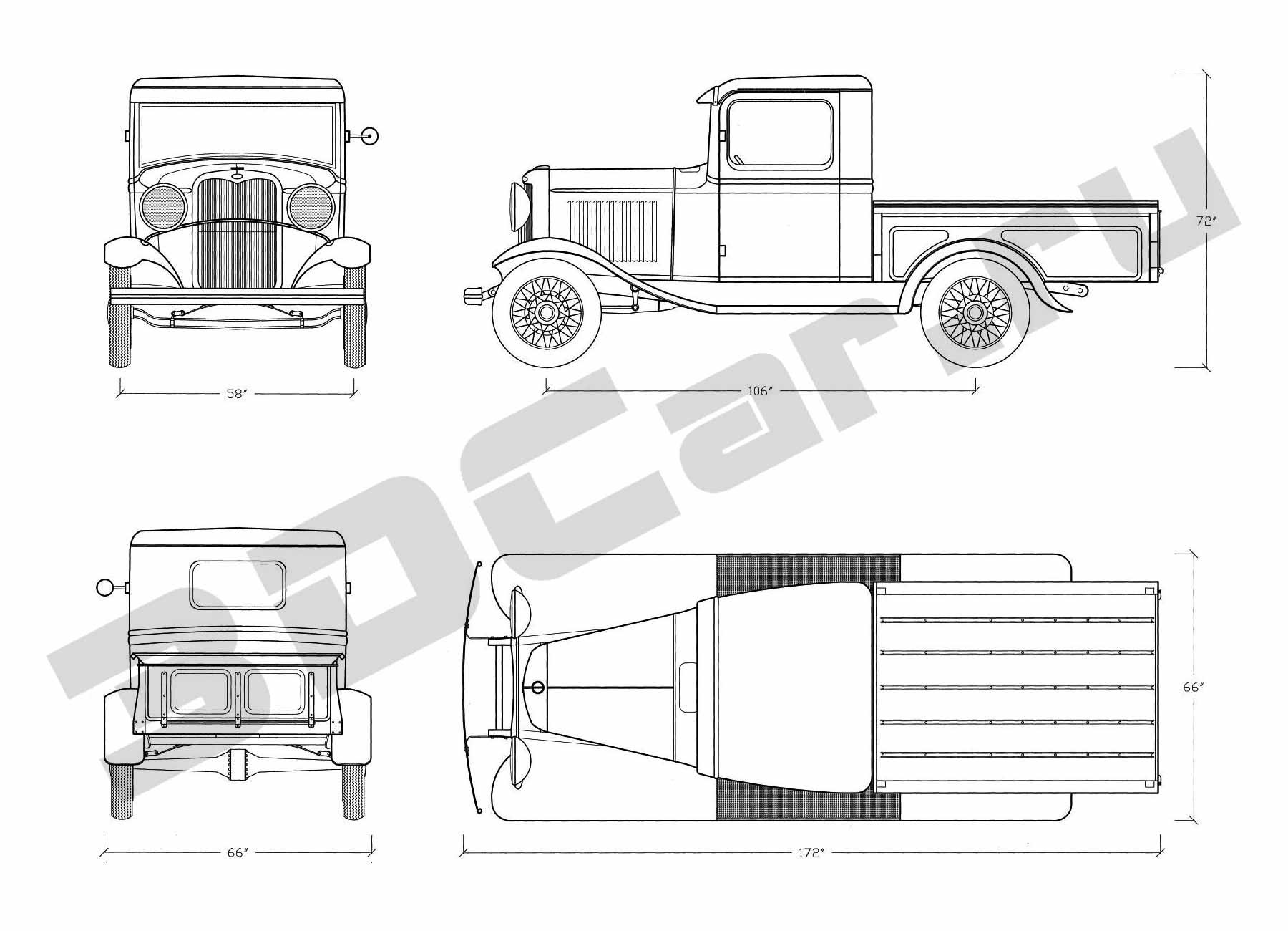 1932 ford blueprints