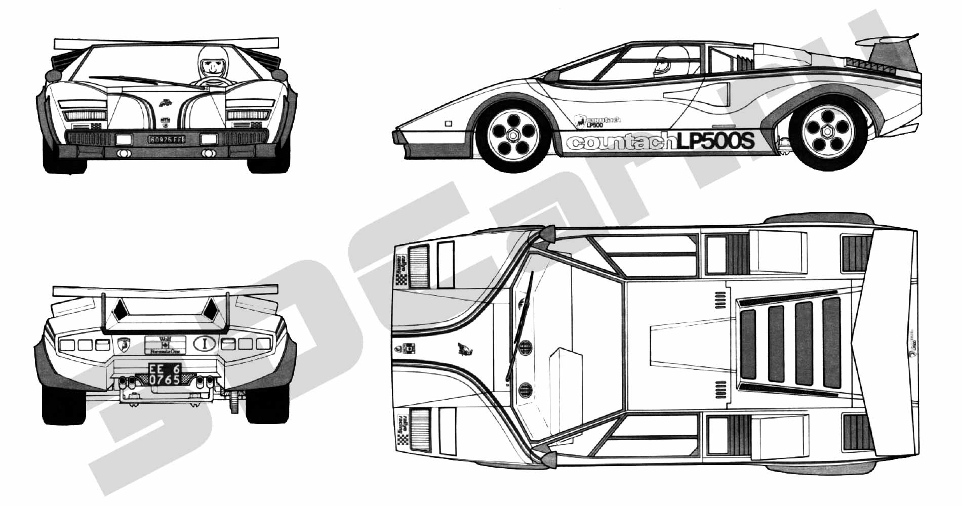 lamborghini countach engine diagram