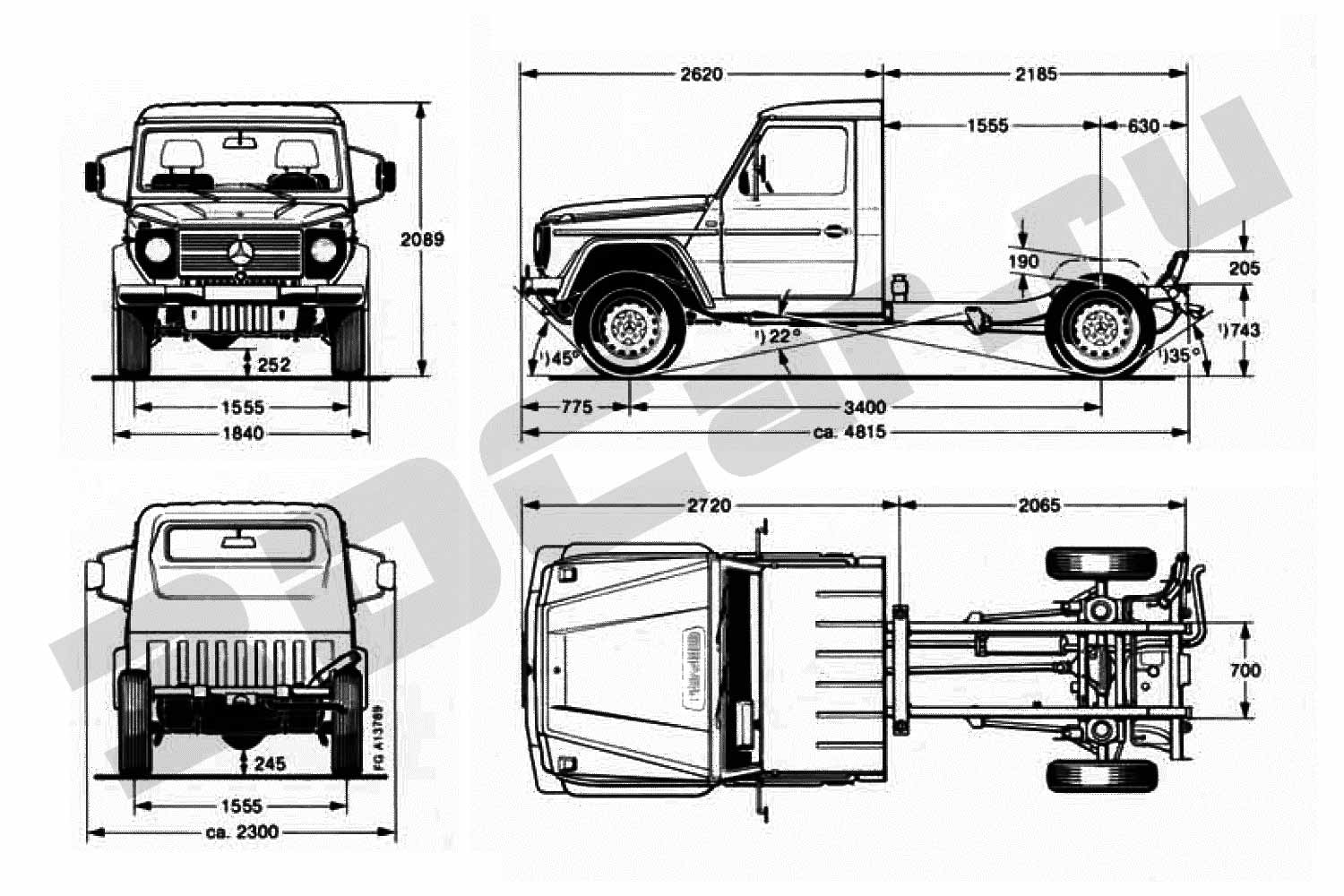 Mercedes G-Class Pickup Chassis (1986)