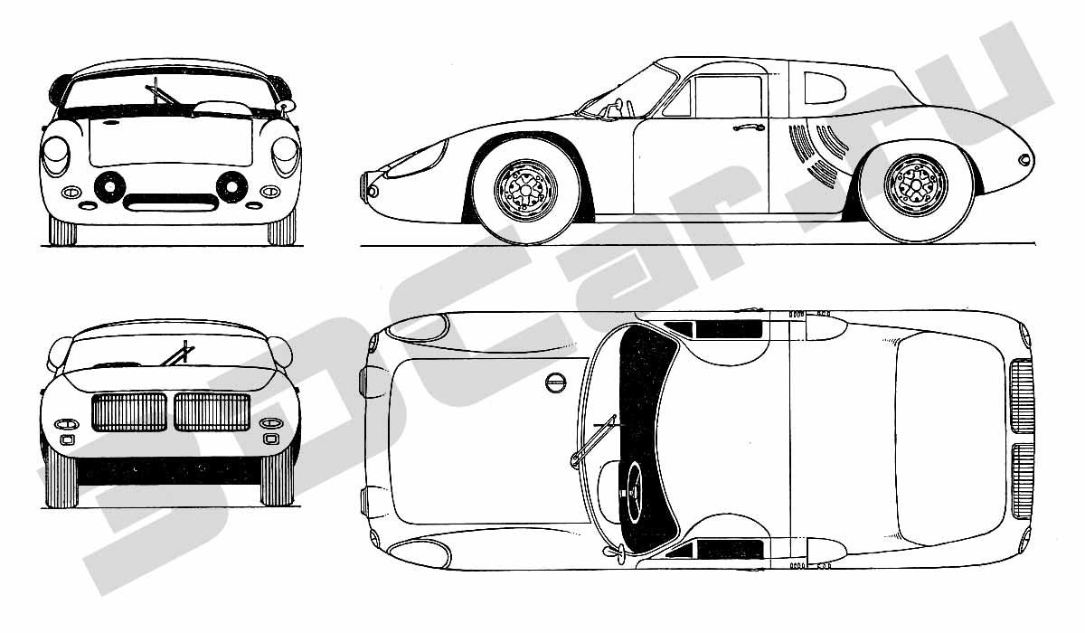 u0427 u0435 u0440 u0442 u0435 u0436 porsche sports coupe  1962       3dcar ru