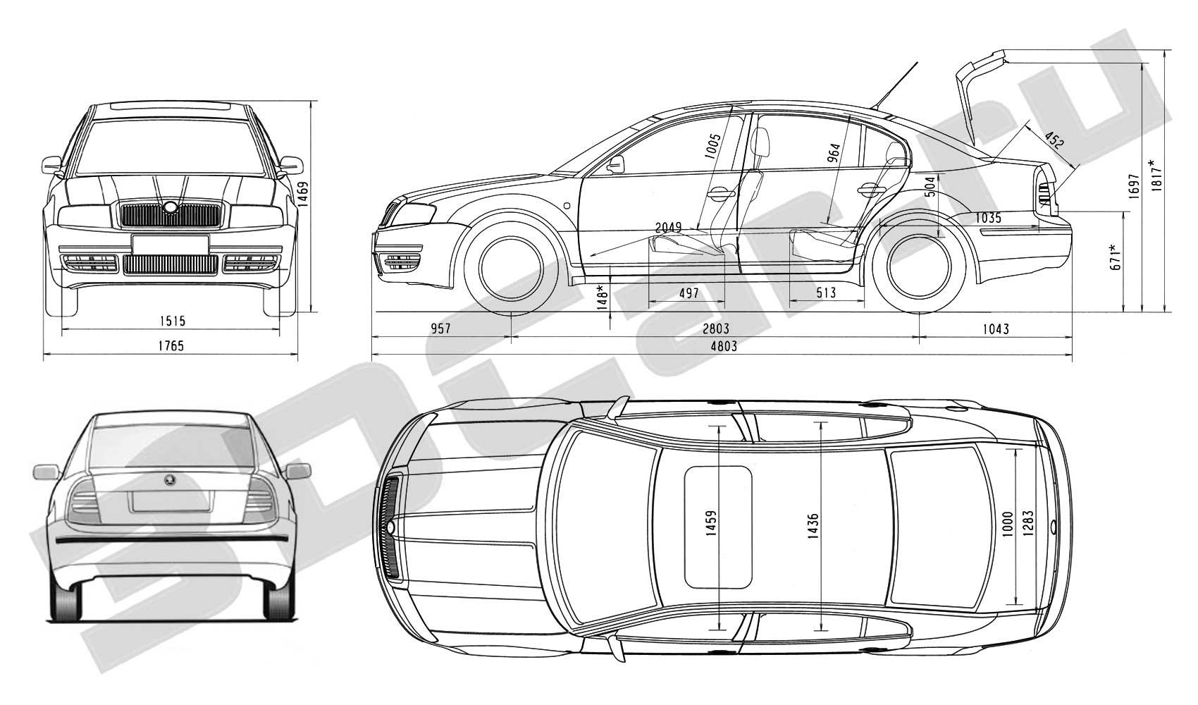 Http www 3dcar ru blueprints skoda skodasuperb
