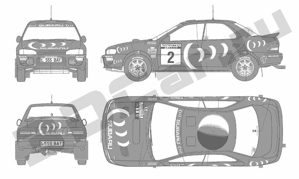 Чертеж Subaru Impreza WRX 5Doors (2007) .