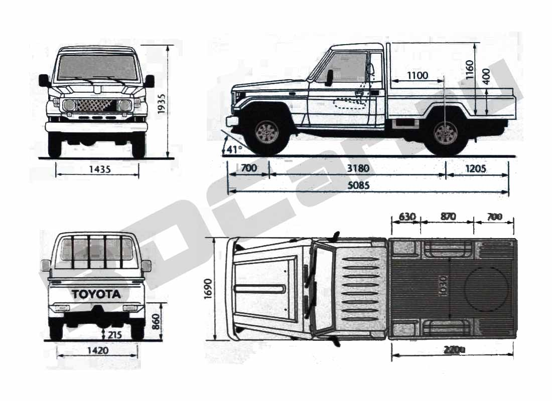 Toyota Land Cruiser 70 Pickup (2001)