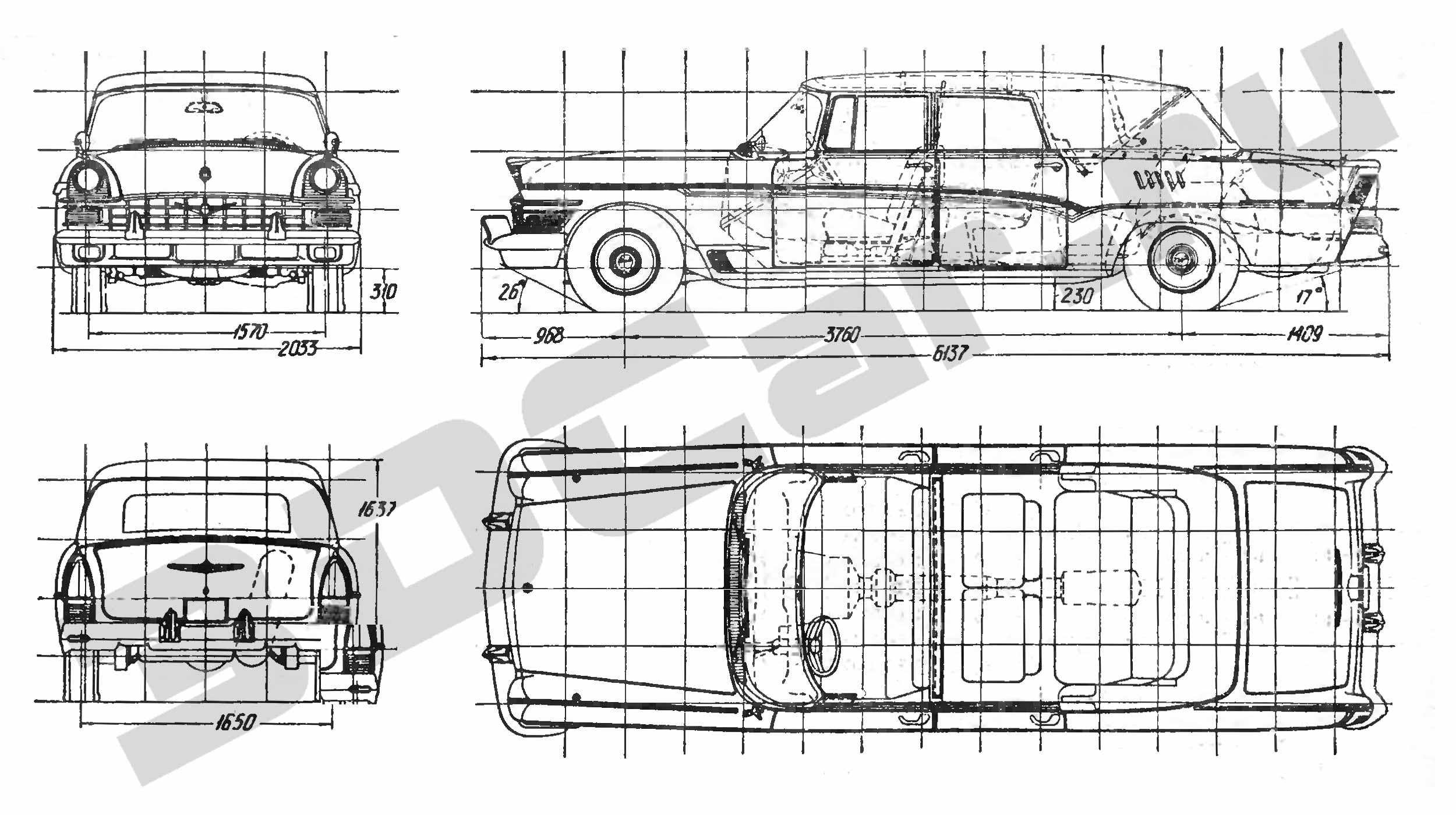 фото чертеж машины