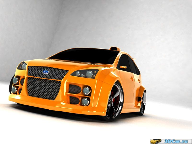 Ford Focus II Tuning Re-rendered