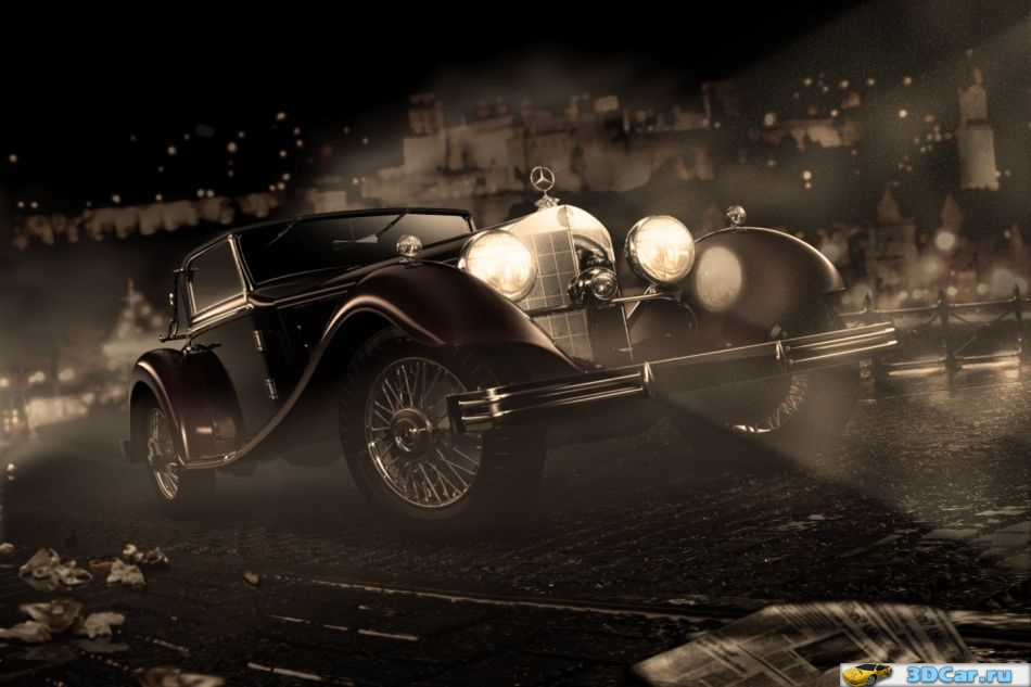 Mercedes 380K Cabriolet A (1934) - SinCity/Mafia Style